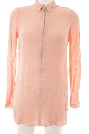 Edited Langarm-Bluse apricot Business-Look