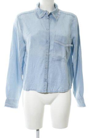 Edited Langarmhemd blau Business-Look