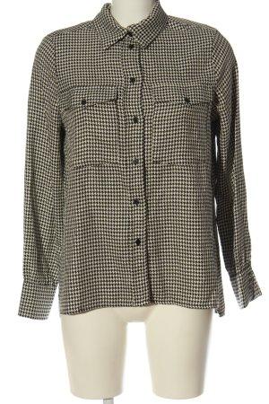 Edited Camicia a maniche lunghe bianco sporco-nero motivo a quadri stile casual