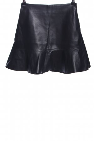 Edited Leather Skirt black business style