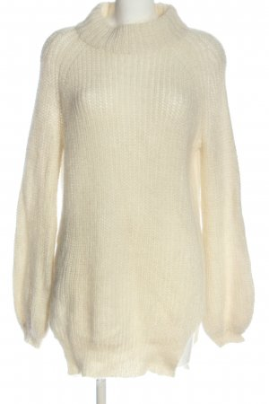 Edited Longpullover creme Zopfmuster Casual-Look