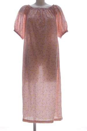 Edited Maxikleid pink-blassgelb Allover-Druck Casual-Look