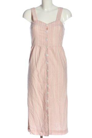 Edited Midikleid pink Streifenmuster Casual-Look