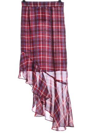 Edited Spódnica midi czerwony-niebieski Wzór w kratkę W stylu casual