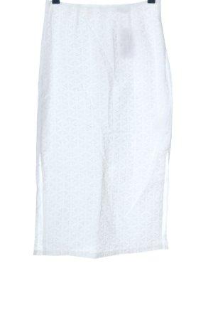 Edited Spódnica midi biały W stylu biznesowym