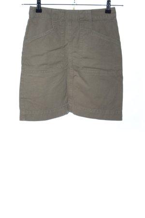 Edited Mini rok khaki casual uitstraling