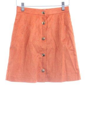 Edited Mini rok donker oranje casual uitstraling