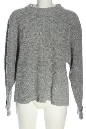 Edited Oversized Pullover hellgrau Casual-Look