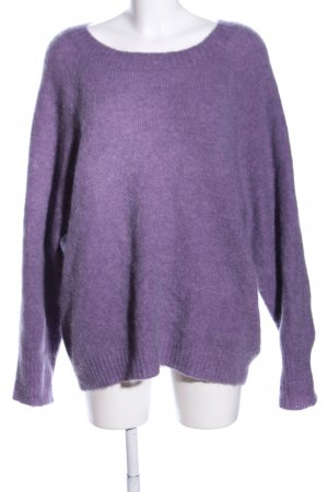 Edited Oversized Sweater lilac flecked casual look