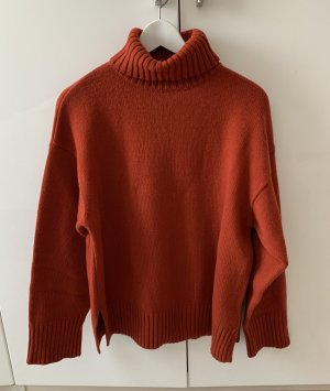 Edited Pull-over à col roulé rouille-rouge laine