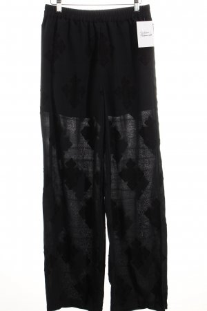 Edited Palazzo Pants dark blue graphic pattern Embroidered ornaments