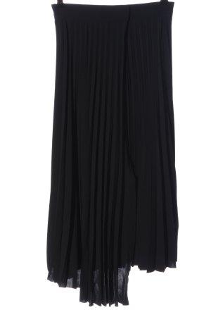 Edited Falda plisada negro look casual