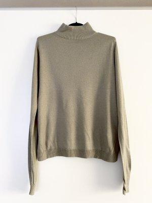 Edited Pullover Oberteil Strick Stehkragen Oversize Salbei Ausverkauft Blogger