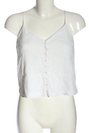 Edited Top con bretelline bianco stile casual
