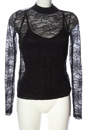 Edited Lace Blouse black casual look
