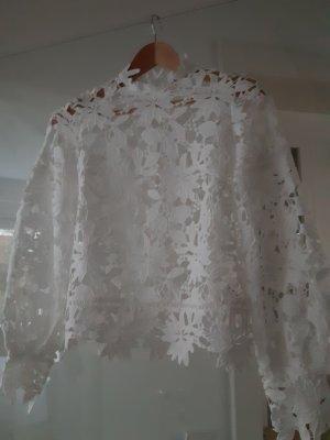 Edited Blusa de encaje blanco