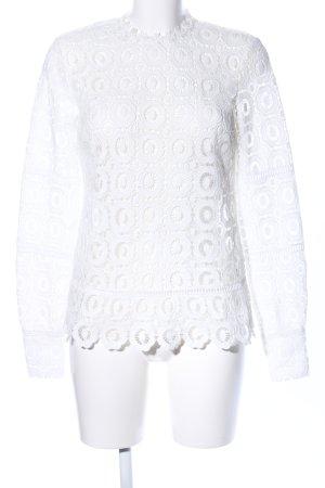 Edited Blusa de encaje blanco look casual