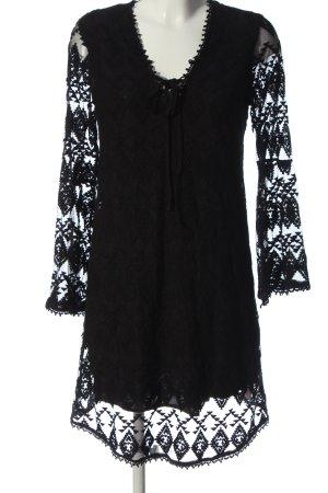 Edited Kanten jurk zwart casual uitstraling