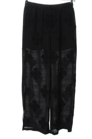 Edited Pantalone jersey nero motivo grafico stile casual
