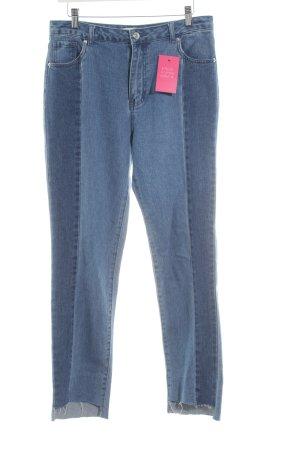 Edited Stretchhose blau Street-Fashion-Look