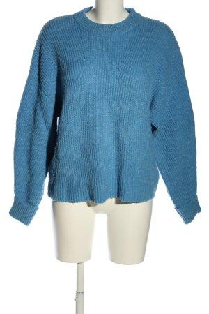 Edited Strickpullover blau Casual-Look