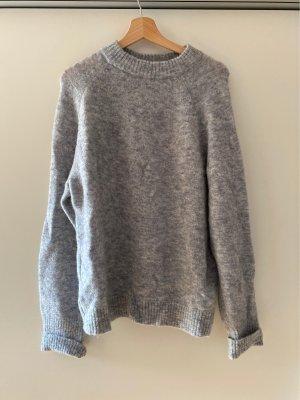 Edited Maglione lavorato a maglia grigio chiaro-grigio