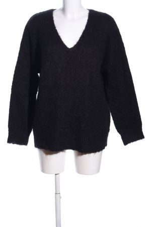 Edited Strickpullover schwarz Business-Look