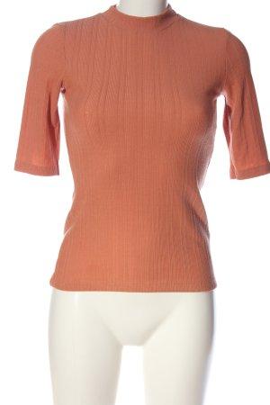 Edited T-shirts en mailles tricotées rose motif rayé style décontracté