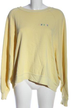 Edited Sweatshirt blassgelb Schriftzug gestickt Casual-Look