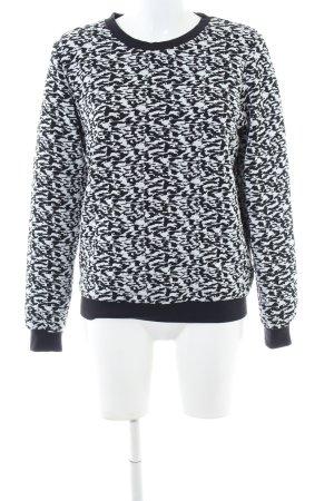 Edited Sweatshirt schwarz-weiß Allover-Druck Casual-Look