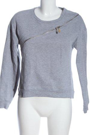 Edited Sweatshirt hellgrau meliert Casual-Look