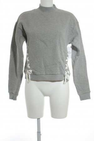 Edited Sweatshirt grau-weiß Casual-Look