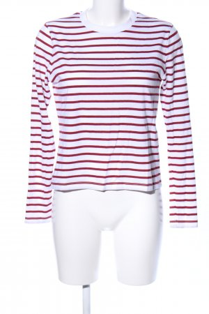 Edited T-Shirt rot-weiß Streifenmuster Casual-Look