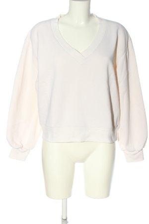 Edited Maglione con scollo a V bianco sporco stile casual