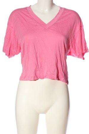 Edited V-Ausschnitt-Shirt pink Casual-Look