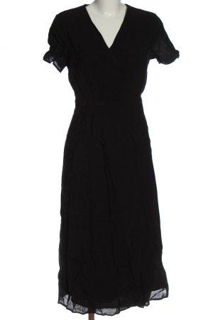 Edited Kopertowa sukienka czarny W stylu casual