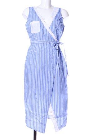 Edited Kopertowa sukienka niebieski-biały Wzór w paski W stylu casual