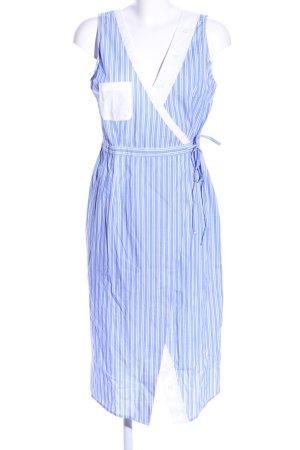 Edited Wickelkleid blau-weiß Streifenmuster Casual-Look