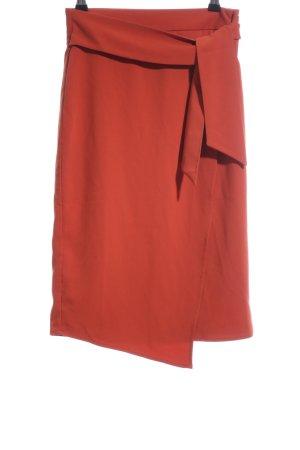 Edited Wraparound Skirt red business style
