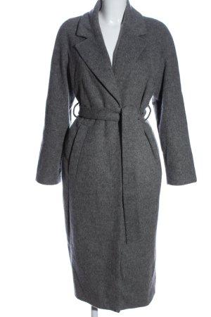 Edited Wool Coat light grey flecked classic style