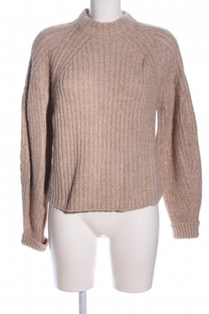 Edited Wollpullover braun Zopfmuster Casual-Look