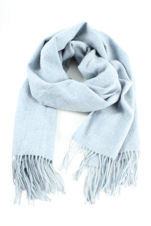 Edited Écharpe en laine bleu style décontracté
