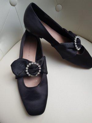 Edle Ballerinas v. Zara, gr. 39, schwarz neu