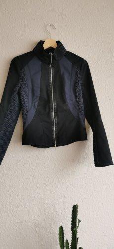 Marc Cain Chaqueta de motociclista negro-azul oscuro