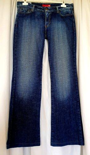 Liu jo Jeansy z prostymi nogawkami stalowy niebieski-błękitny Bawełna