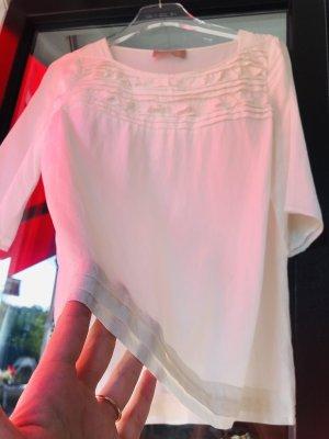 81 hours Zijden blouse wit-wolwit Zijde