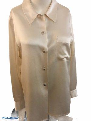 Chanel Połyskująca bluzka kremowy