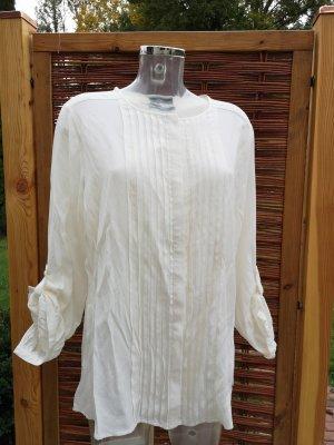 Biaggini Top koszulowy w kolorze białej wełny