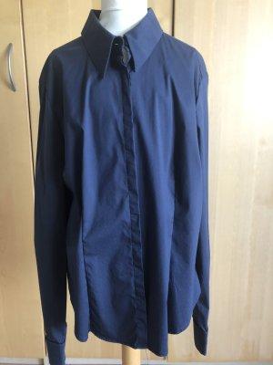 Edle Bluse von Max Mara, dunkelblau, Gr.42