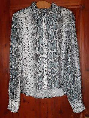 Edle Bluse von PLEASE, Gr. M 38, Grau